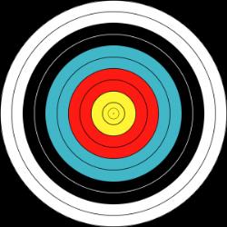 Image d'un blason de tir extérieur Fédéral et FITA